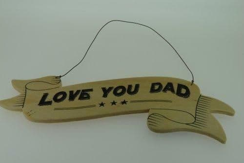 East of India Ribbon Sign - Love You Dad